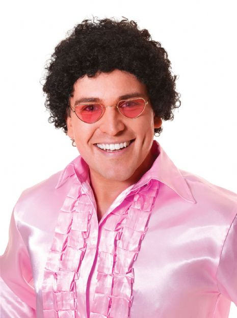Adults Short Curly Afro Wig 70s Disco Hippie Fancy Dress